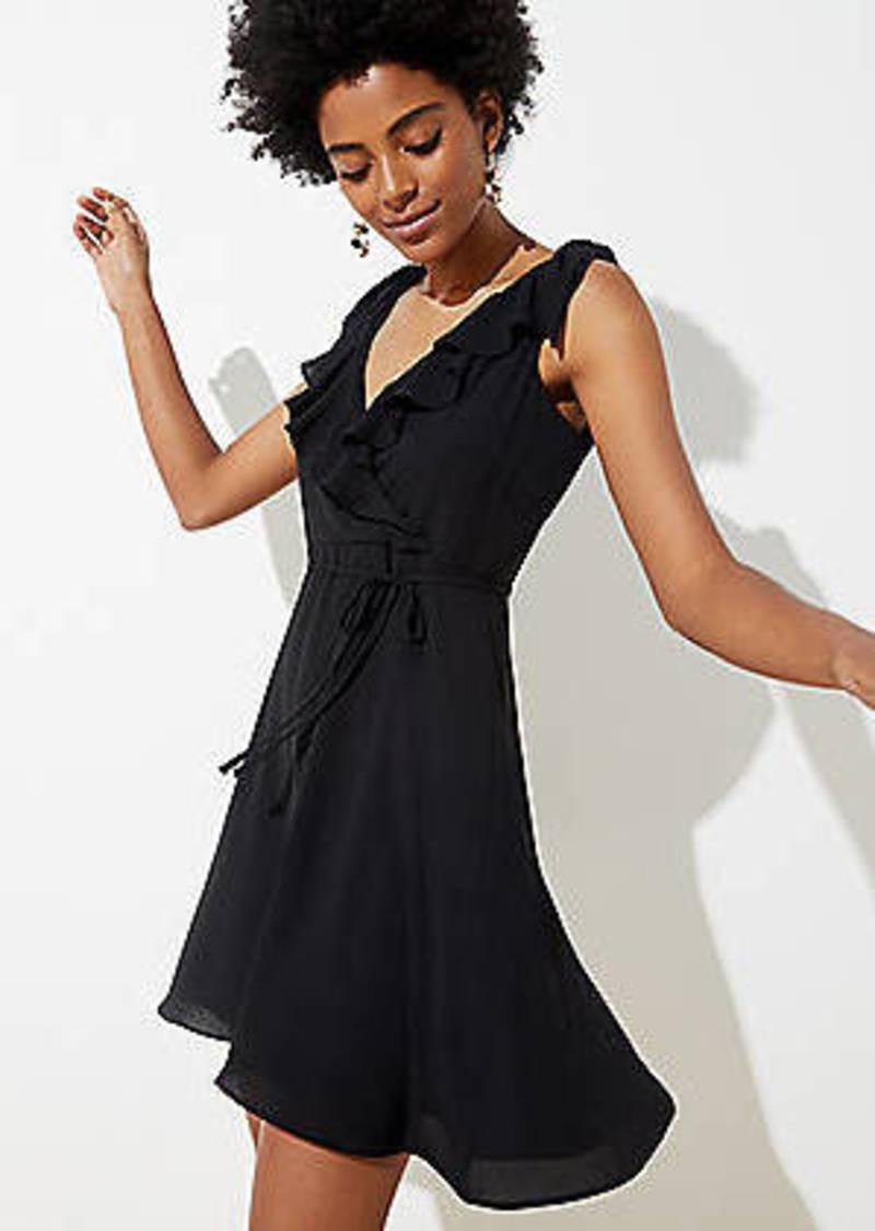 LOFT Ruffle Tie Waist Dress