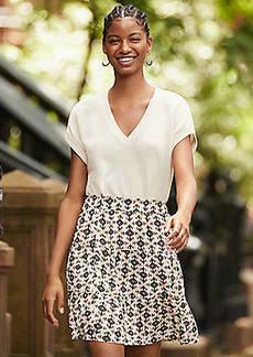LOFT Ruffle Tiered Skirt