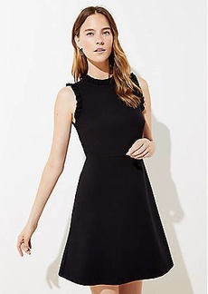 LOFT Ruffle Trim Ponte Flare Dress