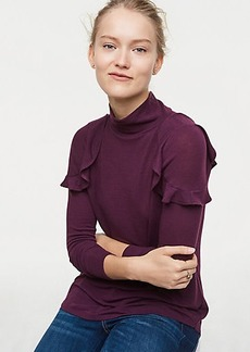 LOFT Ruffle Turtleneck Top