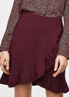LOFT Ruffle Wrap Skirt