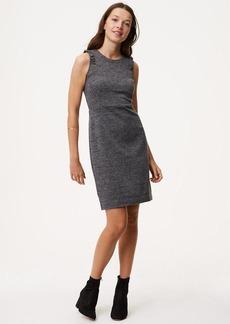 LOFT Ruffled Herringbone Sheath Dress