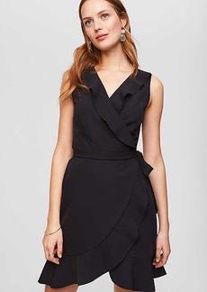 Ruffled Sleeveless Wrap Dress