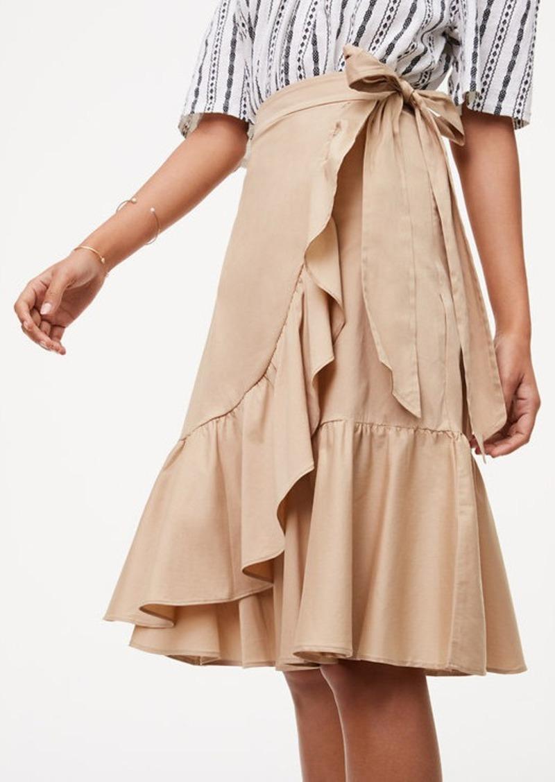 Loft Ruffled Wrap Skirt Skirts Shop It To Me