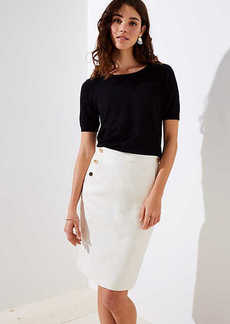 LOFT Sailor Pocket Pencil Skirt