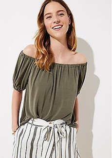 LOFT Sandwashed Short Sleeve Top