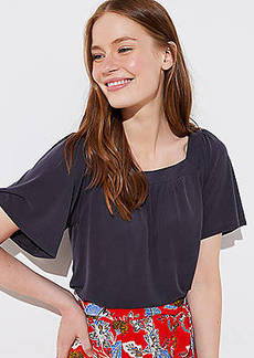 LOFT Sandwashed Square Neck Tee