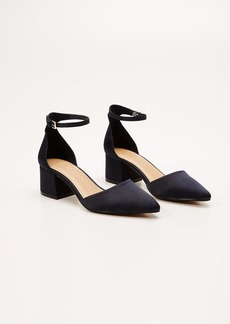 LOFT Satin Ankle Strap Heels
