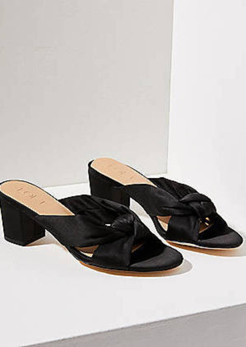 LOFT Satin Knot Block Heel Sandals