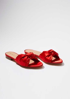 LOFT Satin Knot Slide Sandals