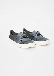 LOFT Satin Knot Slip On Sneakers