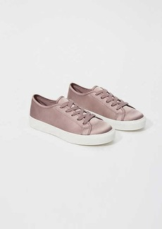 LOFT Satin Lace Up Sneakers
