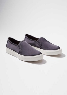 Satin Slip On Sneakers