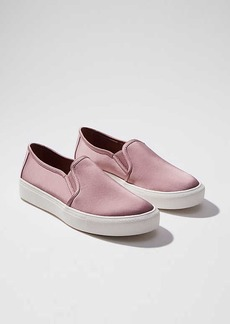 LOFT Satin Slip On Sneakers