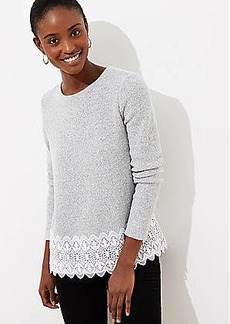 LOFT Scalloped Lace Hem Top