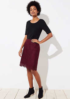 LOFT Scalloped Lace Pencil Skirt