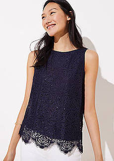 LOFT Scalloped Lace Tank