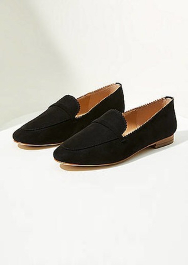 LOFT Scalloped Loafers