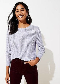 LOFT Scalloped Pointelle Sweater