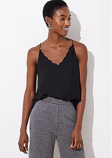 LOFT Scalloped Strappy Cami