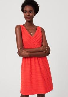 Scalloped Stripe Flare Dress