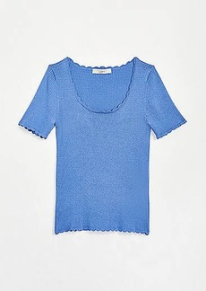 LOFT Scalloped Sweater Tee