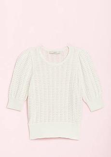 LOFT Scalloped Sweater Tee