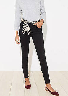 LOFT Scarf Belted Slim Pocket Skinny Jeans in Black
