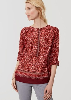 Scarlet Bouquet Henley Softened Shirt