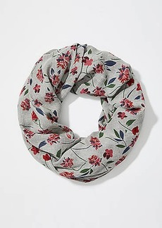 LOFT Scattered Floral Infinity Scarf