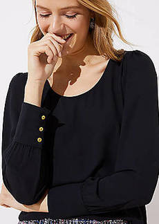 LOFT Scoop Neck Blouse