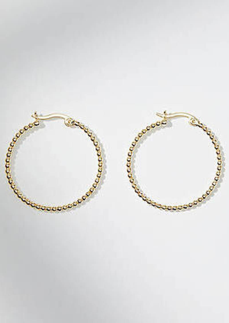 LOFT Sculpted Ball Chain Hoop Earrings