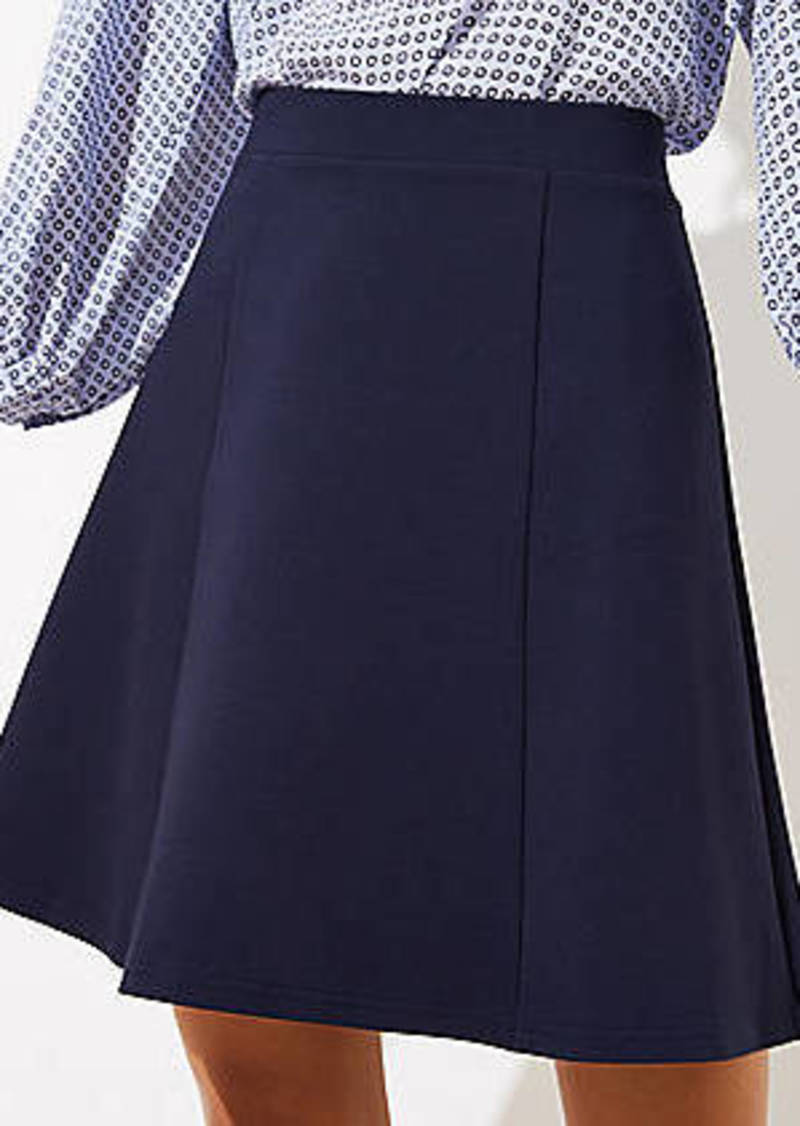 LOFT Seamed Ponte Flippy Skirt