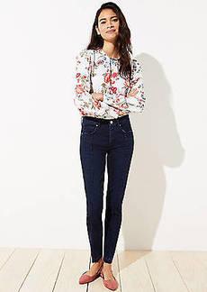 LOFT Seamed Slim Pocket Skinny Jeans in Pure Mid Indigo Wash