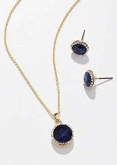 LOFT September Birthstone Earring & Necklace Set