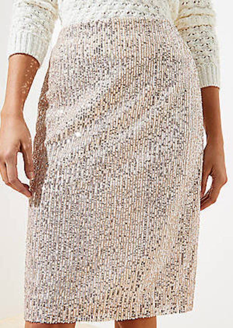 LOFT Sequin Pencil Skirt