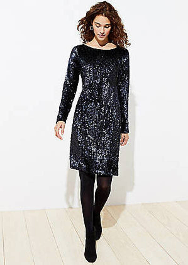 LOFT Sequin Velvet Dress