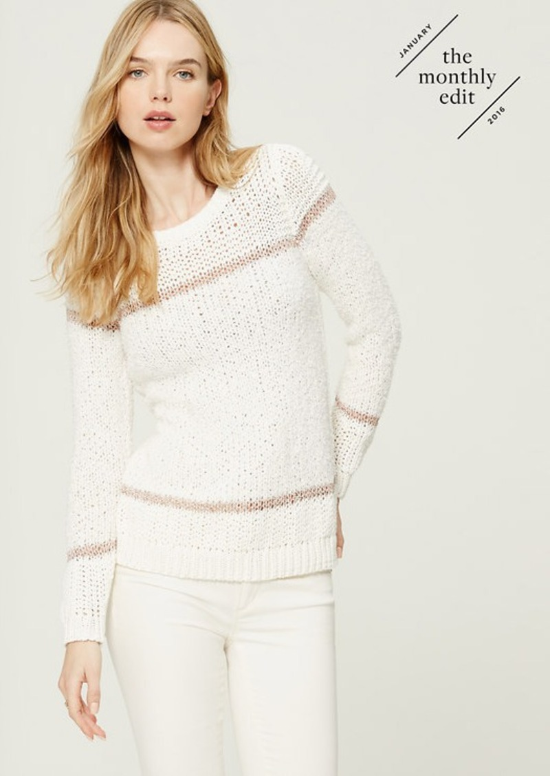 LOFT Serenade Stripe Sweater