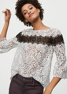 Shadow Floral Lace Top
