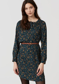 Shadow Floral Modern Henley Shirtdress