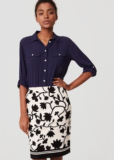 Shadow Floral Pencil Skirt