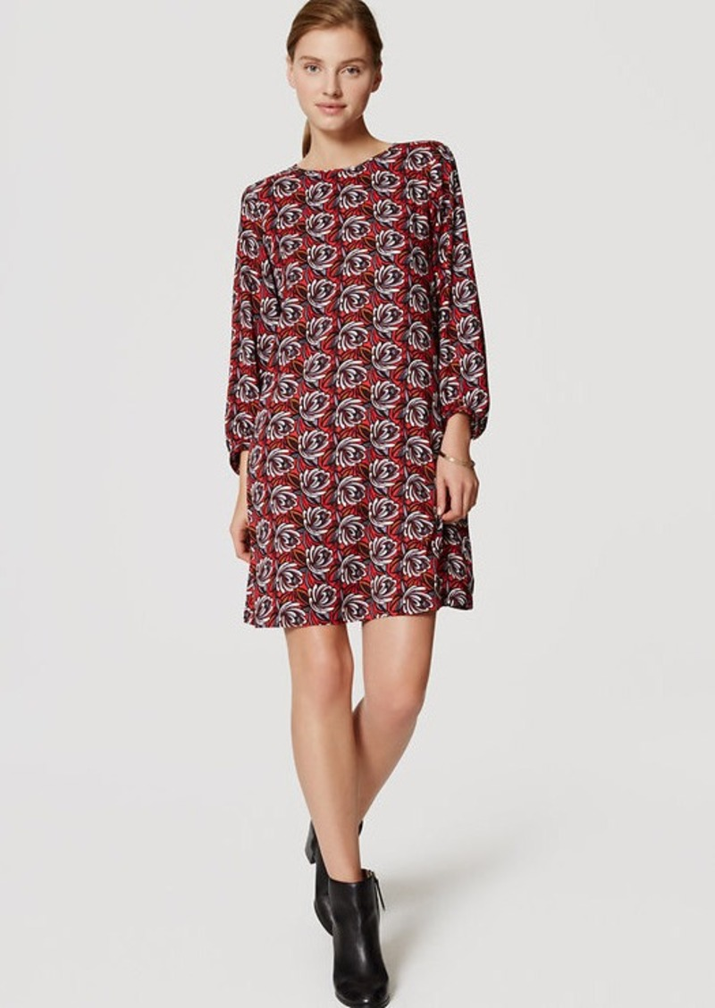 LOFT Shadow Floral Shift Dress