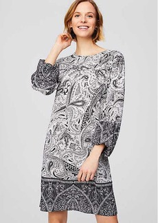 Shadow Paisley Shift Dress