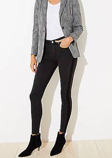 LOFT Shadow Stripe Slim Pocket Skinny Jeans
