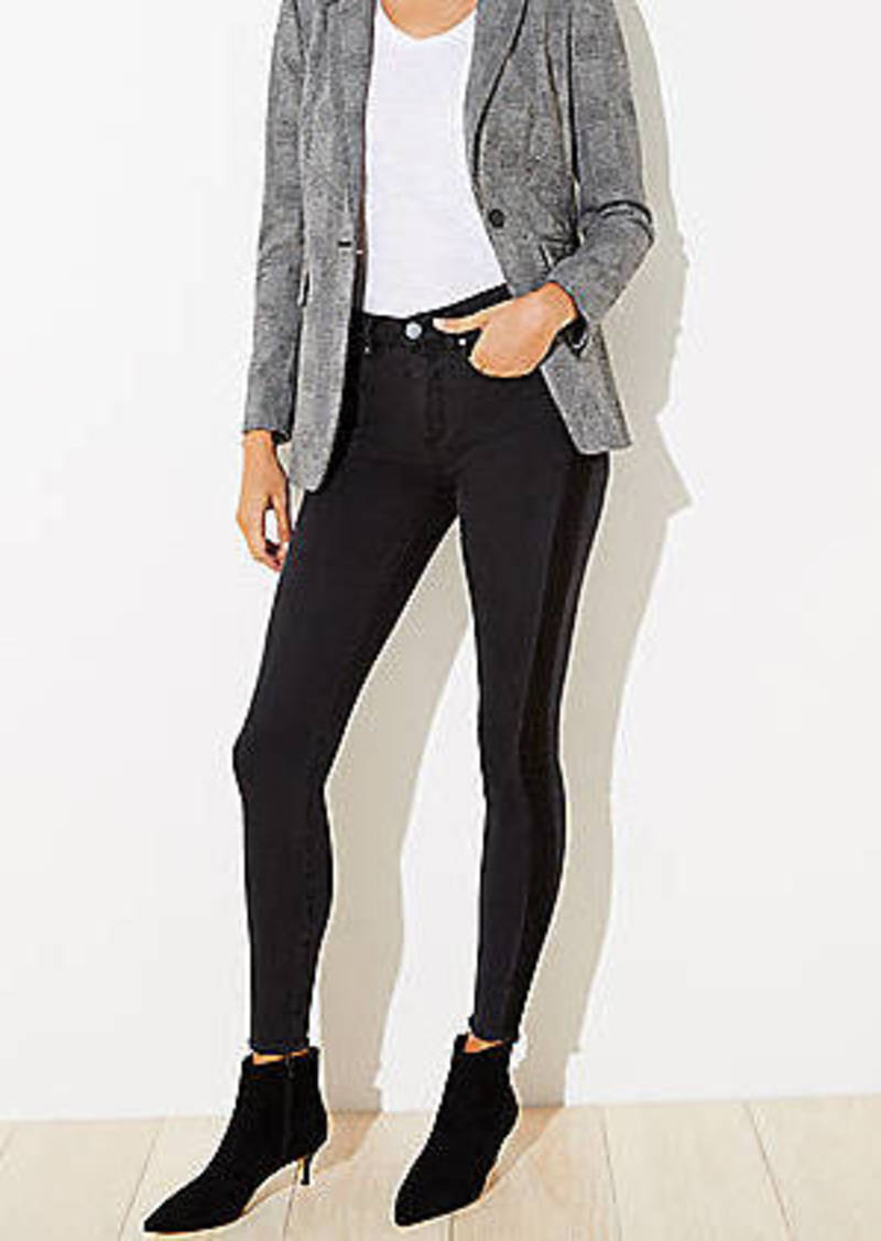LOFT Shadow Stripe Slim Pocket Skinny Jeans
