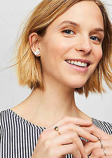 LOFT Shell Floral Stud Earrings