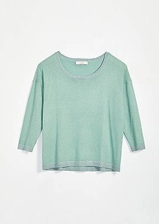 LOFT Shimmer 3/4 Sleeve Sweater