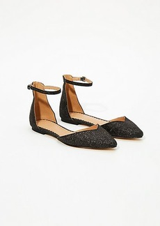 LOFT Shimmer Ankle Strap Flats