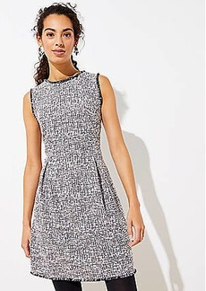 LOFT Shimmer Boucle Flare Dress