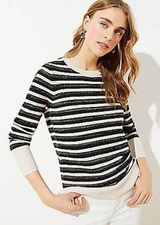 LOFT Shimmer Cuff Sweater